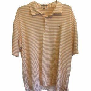 Peter Millar Mens Orange White Golf Polo Shirt XXL